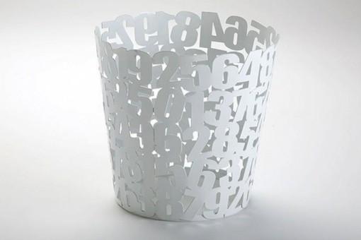 poubelle blanche design pas ch re. Black Bedroom Furniture Sets. Home Design Ideas