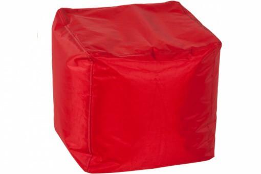 Pouf Carré Rouge en Polyester Picolo, deco design