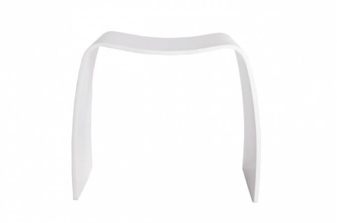 Tabouret Design Blanc En Bois Pas Cher
