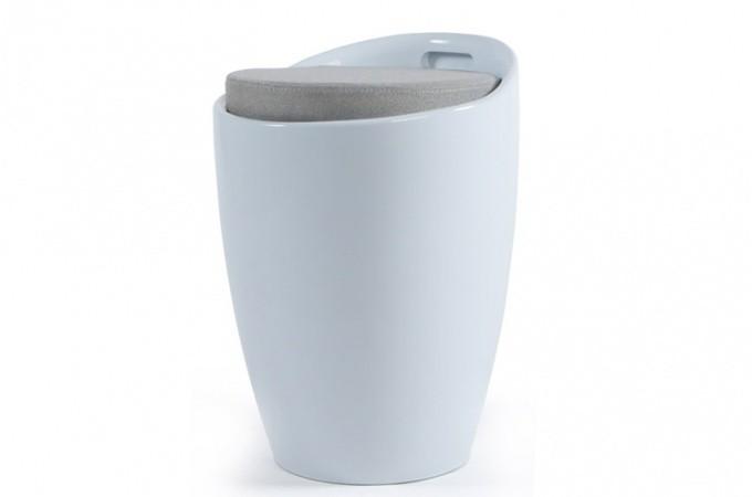 Tabouret coffre blanc tambour poufs petits tabourets pas cher - Tabouret blanc pas cher ...