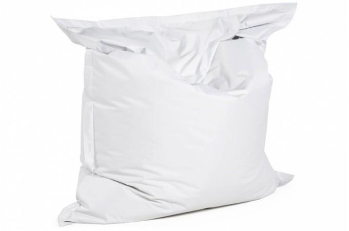 Pouf Geant En Polyester Blanc Storm Poufs Geants Pas Cher