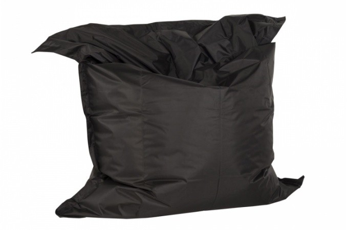 pouf g ant en polyester noir storm poufs g ants pas cher. Black Bedroom Furniture Sets. Home Design Ideas