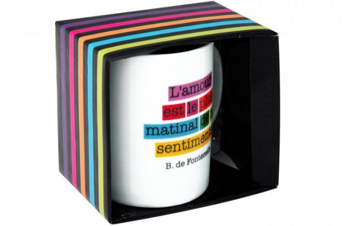 mug caf blanc message d 39 amour pour le caf pas cher. Black Bedroom Furniture Sets. Home Design Ideas