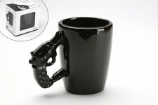 Mug noir pistolet Guny - Collection deco noir et blanc design