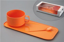 Set de 3 Pièces Pour Petit Déj Orange Martina - Service cafe the design