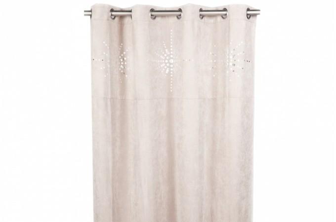 rideau oeillet japonais gris 140x260 cm deco design. Black Bedroom Furniture Sets. Home Design Ideas