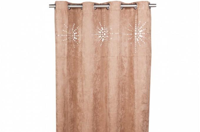 rideau oeillet japonais taupe 140x260 cm rideaux pas cher. Black Bedroom Furniture Sets. Home Design Ideas