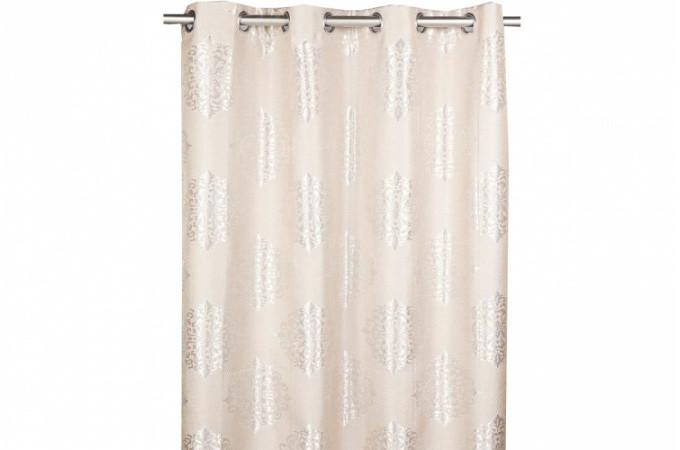rideau oeillet cru sologne 140x260 cm rideaux pas cher. Black Bedroom Furniture Sets. Home Design Ideas