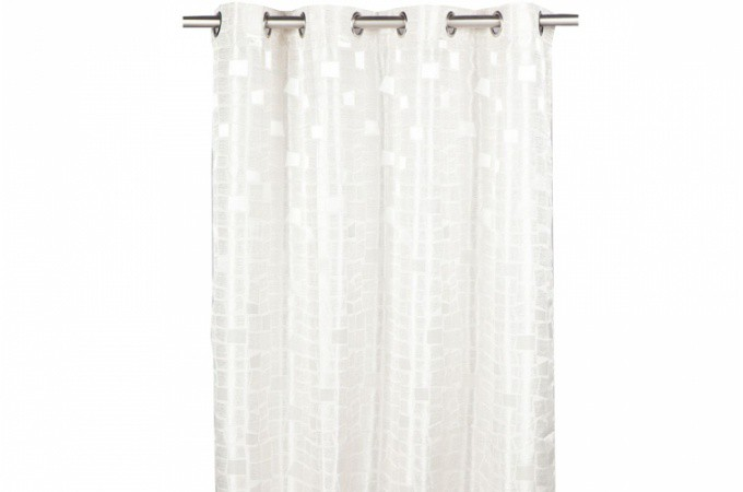 Rideau A Oeillet : rideau oeillet gris oxfordia 140x260 cm rideaux pas cher ~ Nature-et-papiers.com Idées de Décoration
