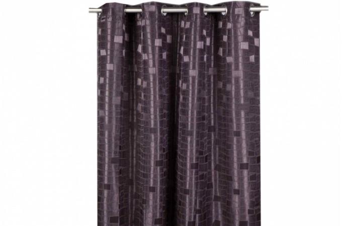 rideau oeillet noir oxfordia 140x260 cm rideaux pas cher. Black Bedroom Furniture Sets. Home Design Ideas