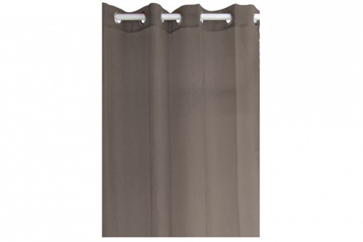 Voilage à Œillets uni 100% polyester 135x240 TODAY Couleur Bronze