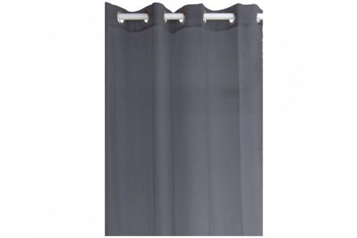 voilage en polyester gris anthracite 135 x 240 cm declikdeco. Black Bedroom Furniture Sets. Home Design Ideas