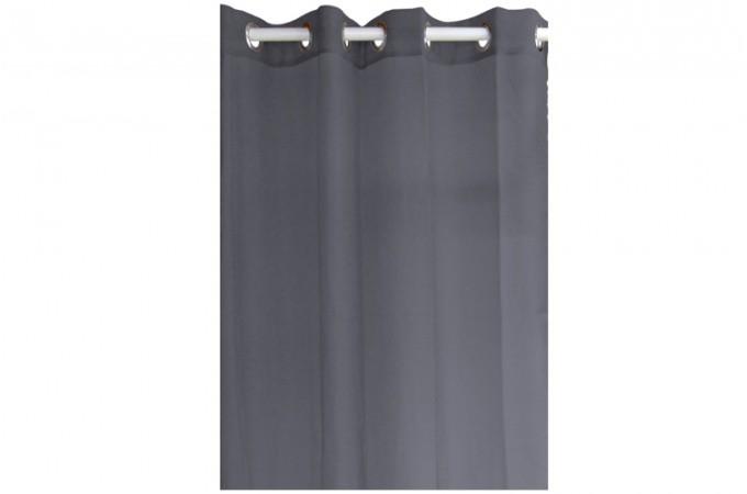 Voilage En Polyester Gris Anthracite 135 X 240 Cm Declikdeco