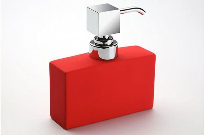 Declikdeco  Distributeur à savon rouge Paty