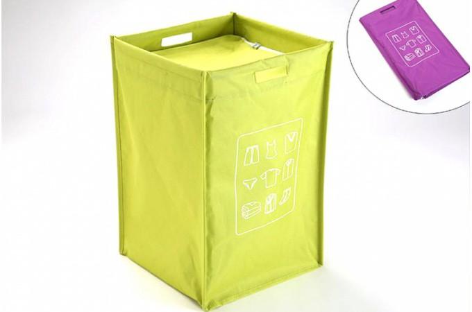 panier linge pliable couvercle vert paniers linge pas cher. Black Bedroom Furniture Sets. Home Design Ideas