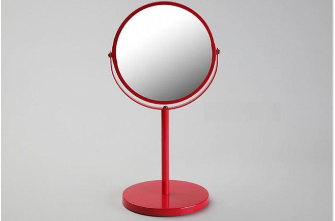 Petit miroir d 39 appoint en verre rouge pablo salle de for Petit miroir salle de bain