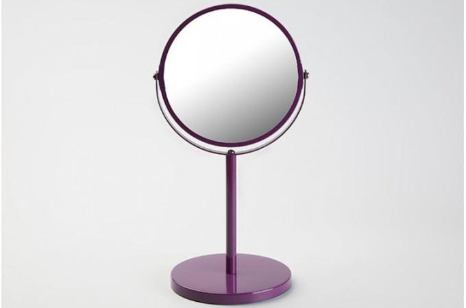 Petit miroir d 39 appoint en verre violet pablo salle de for Petit miroir salle de bain
