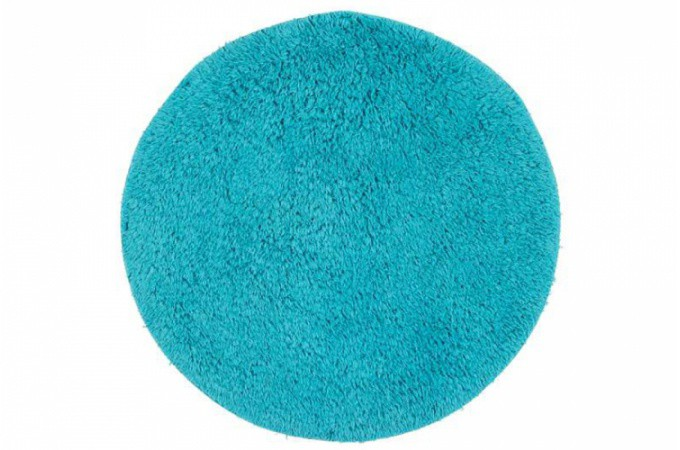 tapis de bain rond bleu turquoise 60x60 cm salle de bain pas cher. Black Bedroom Furniture Sets. Home Design Ideas