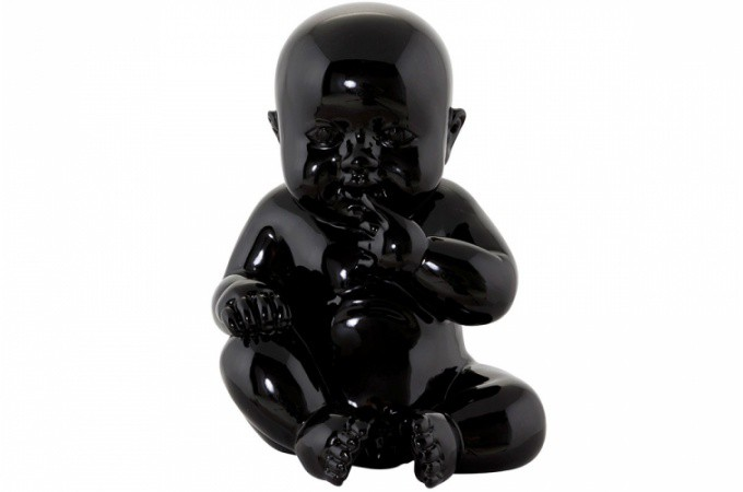 statue little baby noire statues d co pas cher declik deco. Black Bedroom Furniture Sets. Home Design Ideas