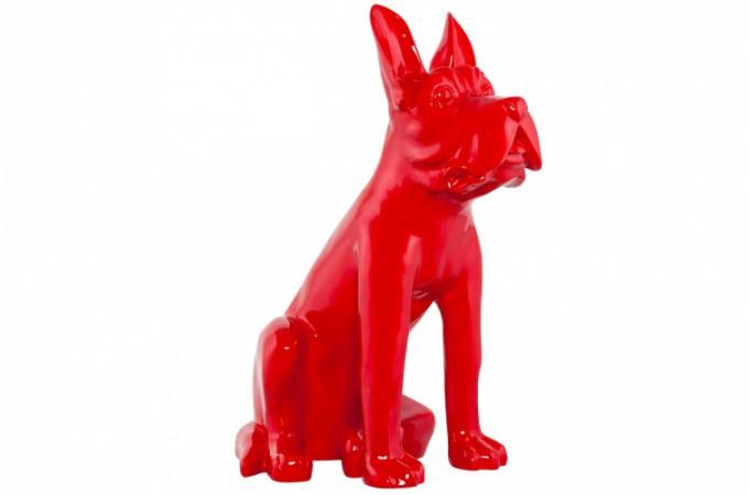 Statue dog design rouge statues d co pas cher declik deco - Statue de jardin pas cher ...