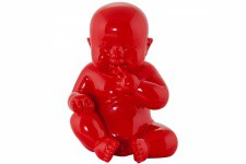 Statue Little Baby Rouge - Statue rouge design