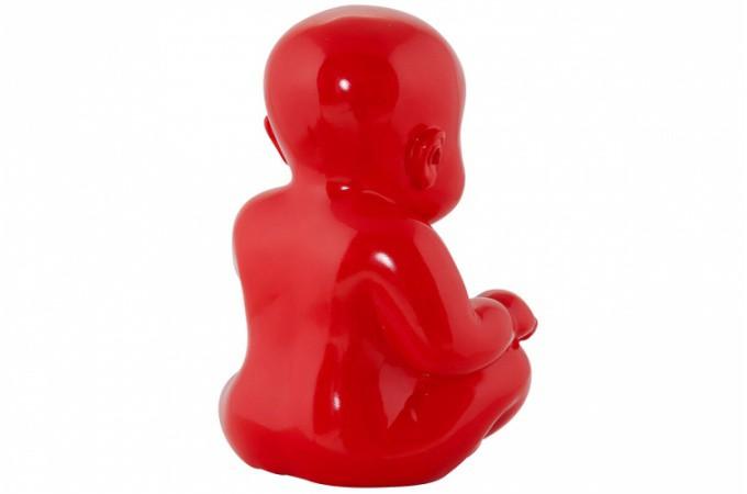 statue little baby rouge statues d co pas cher declik deco. Black Bedroom Furniture Sets. Home Design Ideas