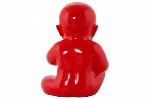 Statue little baby rouge statues d co pas cher declik deco for Objet deco design rouge