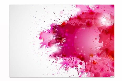 Tableau Abstrait Courant d'Air Rose L.80 x H.55 cm
