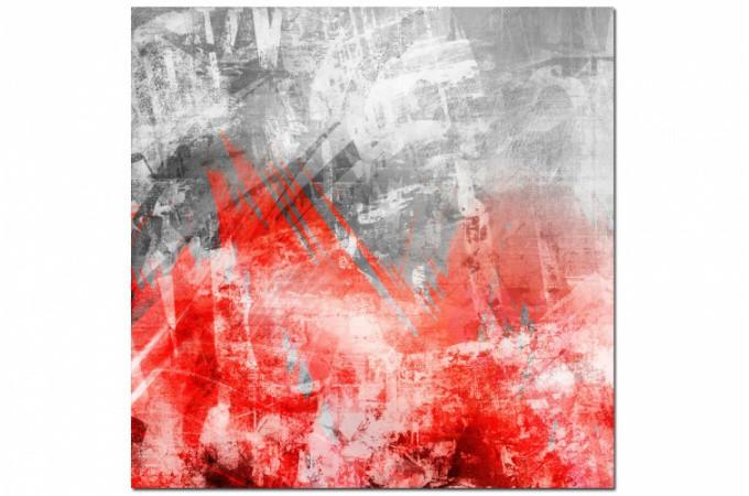 tableau abstrait rouge phoenix 50x50 cm tableaux. Black Bedroom Furniture Sets. Home Design Ideas