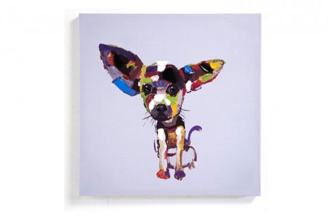 tableau chien pop 50 x 50 chiwa tableaux animaux pas cher. Black Bedroom Furniture Sets. Home Design Ideas