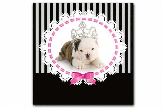 tableau enfant chien princesse baroque 80x80 cm tableaux baroques pas cher. Black Bedroom Furniture Sets. Home Design Ideas