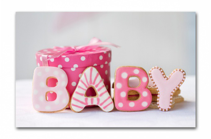 Tableau enfant baby rose 80x55 cm tableaux enfants pas cher for Tableau chambre bebe fille