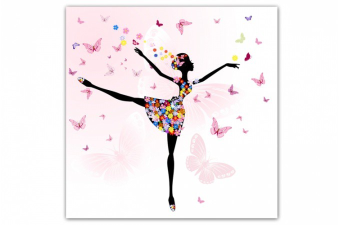 Tableau enfant f e danseuse 60x60 cm tableaux enfants pas cher - Tableau decoration enfant ...