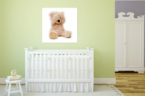 Tableau enfant ourson timide 80x80 cm tableaux enfants for Tableau enfant pas cher