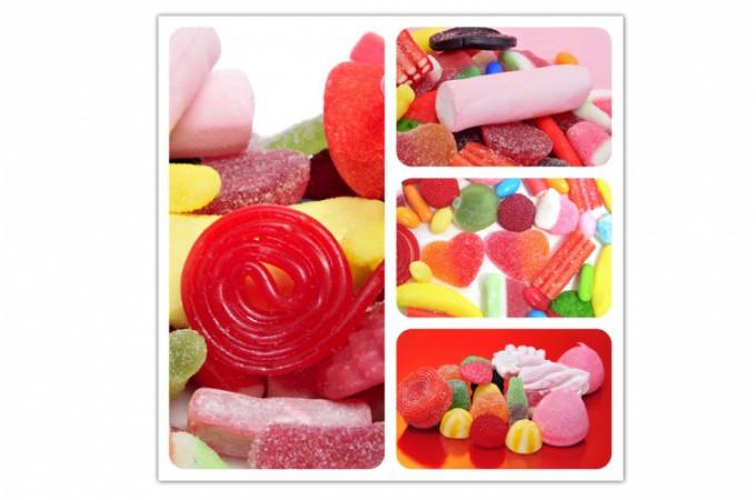 Tableau gourmand bonbons acidul s et color s 50x50 cm tableaux gourmands pa - Tableau colore pas cher ...