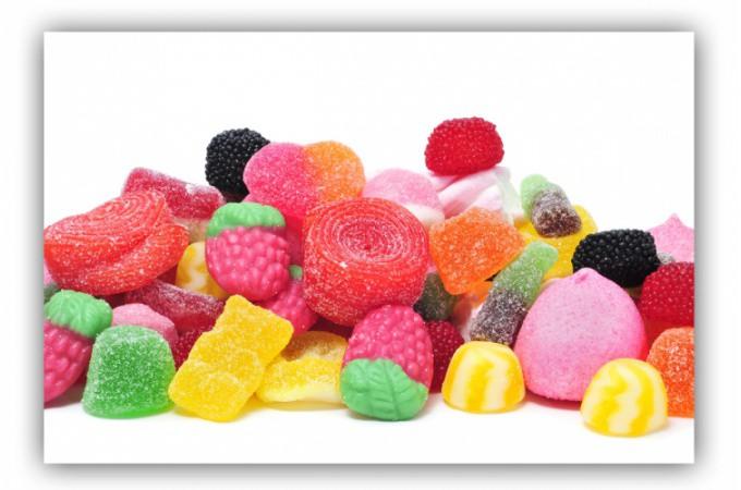 Tableau gourmand farandole de bonbons 80x55 cm tableaux gourmands pas cher - Distributeur de bonbon pas cher ...