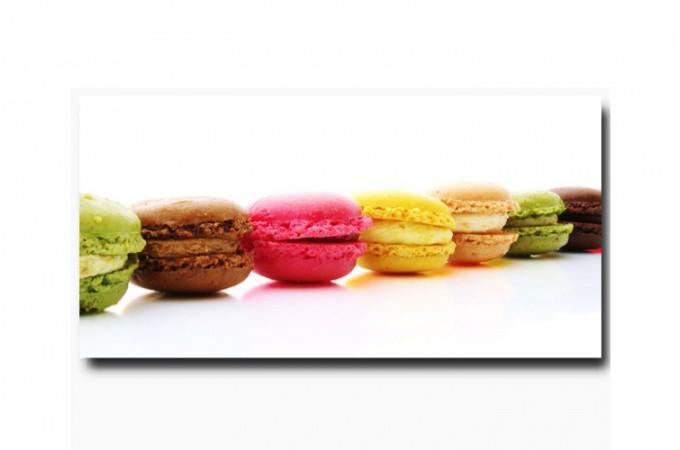 Tableau gourmand macaron 40x80cm tableaux gourmands pas cher - Tableau cuisine pas cher ...