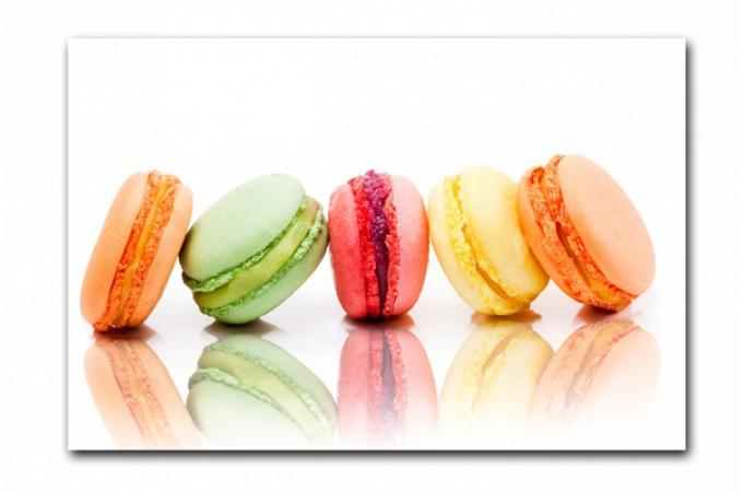 Tableau gourmand macarons color s 80x55 cm tableaux gourmands pas cher for Tableau cuisine pas cher