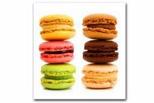 Tableau Gourmand Multicolore Macaron 50X50 cm, deco design