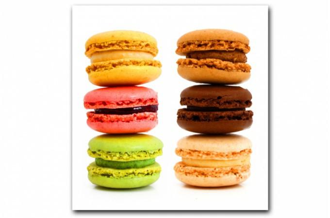 Tableau gourmand multicolore macaron 50x50 cm tableaux gourmands pas cher for Tableau cuisine pas cher