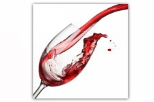 Tableau Gourmand Verre de Vin 80X80 cm - Decoration murale design