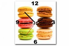 Horloge Design Tableau Horloge Gourmand Multicolore Macaron 30X30 cm, deco design