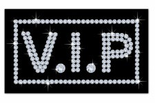 Tableau Disco Vip Strass L.80 x H.55 cm - Decoration murale design