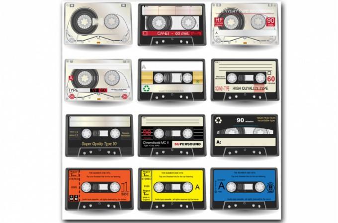 Tableau Disco Music Cassette Retro 60x60 Cm Tableaux Pop