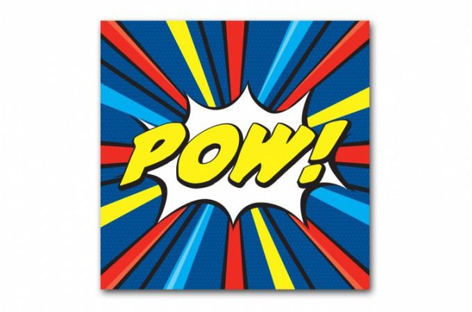tableau pop art multicolore pow 60x60 cm tableaux pop art pas cher. Black Bedroom Furniture Sets. Home Design Ideas