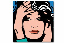 Tableau Pop Art Woman 80X80 cm - Tableau pop art