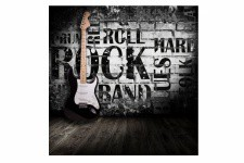Tableau Rock Guitare Ambiance 50X50 cm - Deco rock n roll