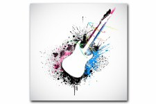 Tableau Rock'N'Roll Guitare Concert 60X60 cm - Deco meuble original