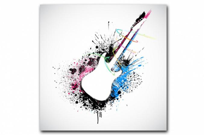 tableau moderne guitare