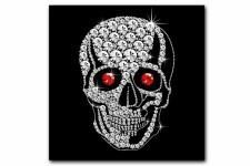 Tableau Rock'N'Roll Tete de Mort Strass 50X50 cm, deco design